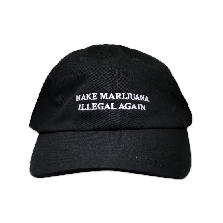 Image of MAKE MARIJUANA ILLEGAL AGAIN (DAD HAT - BLACK)