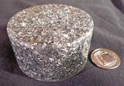 "Image of 5G Ready ""Xenon Silver Smoothy"" Orgonite Puck"
