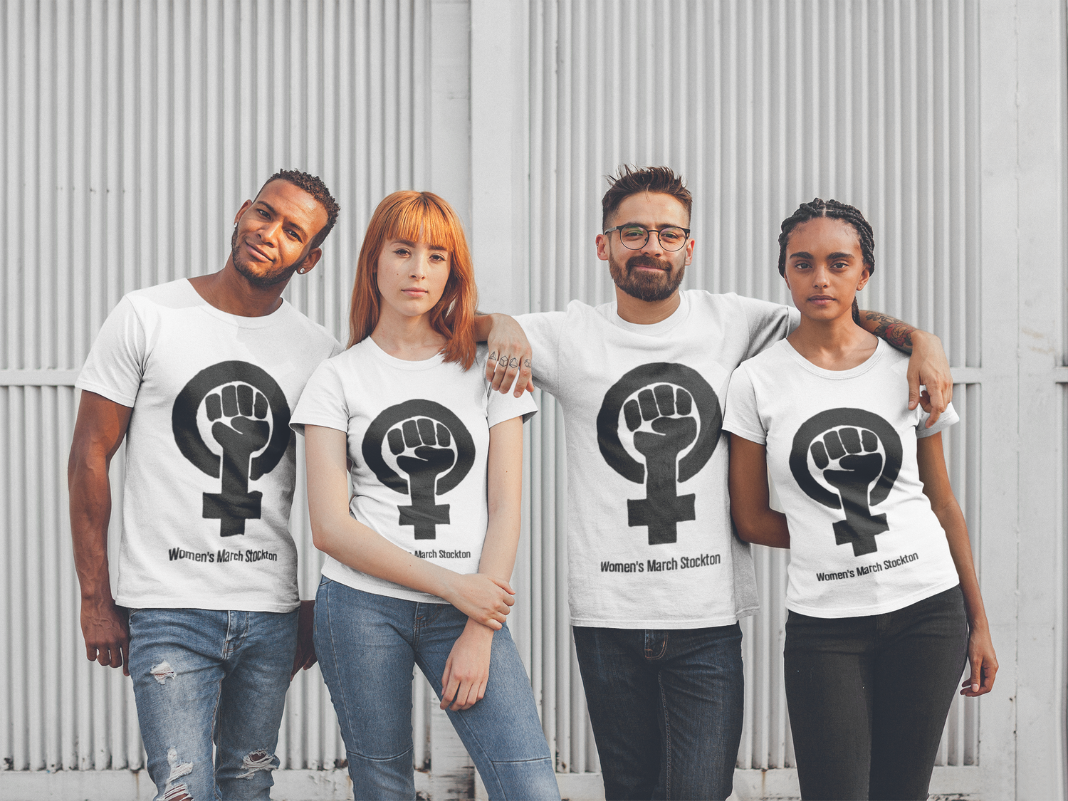 Image of Women's March Stockton 2019 OFFICIAL TEE - UNISEX