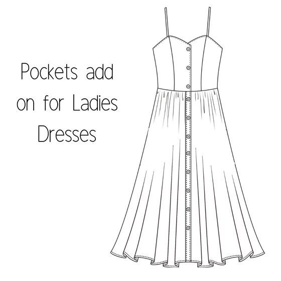 Image of Pockets for Ladies Dresses