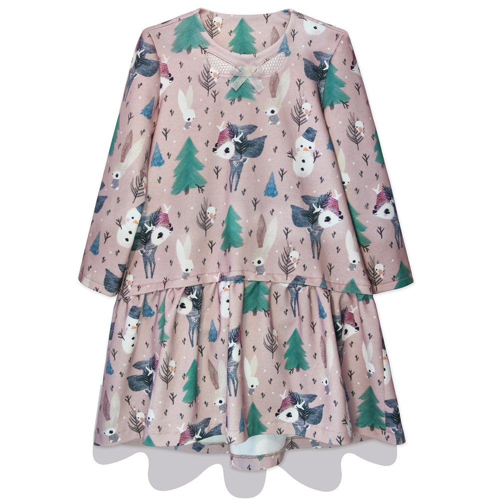Image of winter BAMBI + SNOWman dress