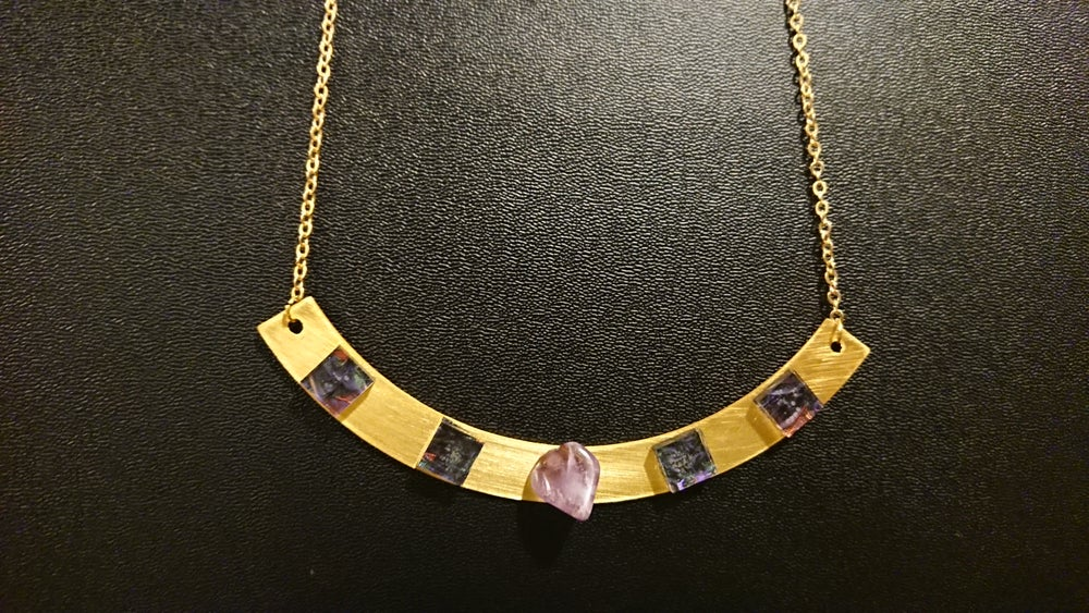 Image of Amethyst Luxe Statement Necklace