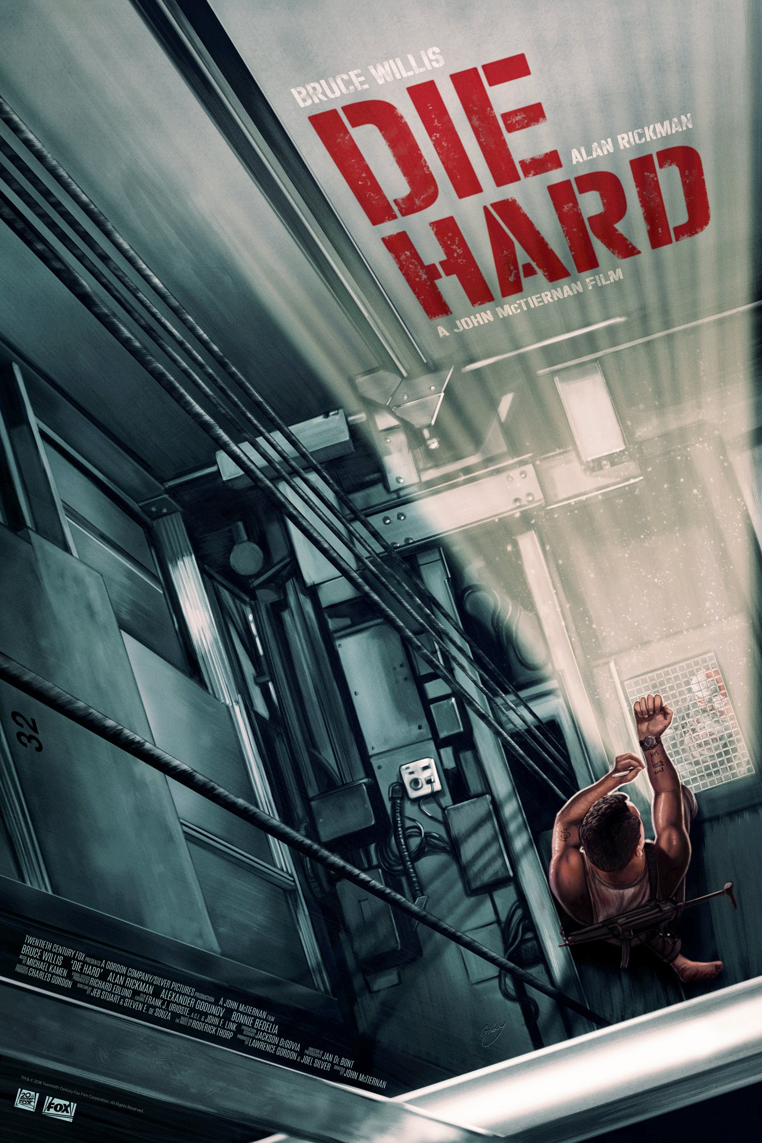 "Image of Die Hard 16"" x 24"" (officially licensed artist proof copies)"