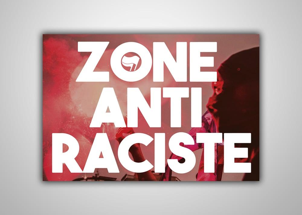 """Image of 100 Autocollants """"Zone Anti Raciste"""""""