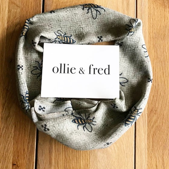 Image of MANCHESTER WORKER BEE SCARF BY OLLIE + FRED
