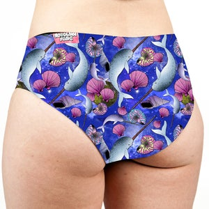 Image of Space Narwhals Low Rise Cheeky Shorts