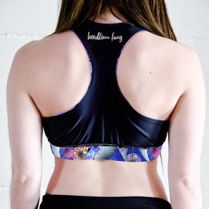 Image of Space Narwhals Racer Back Sports Crop Top