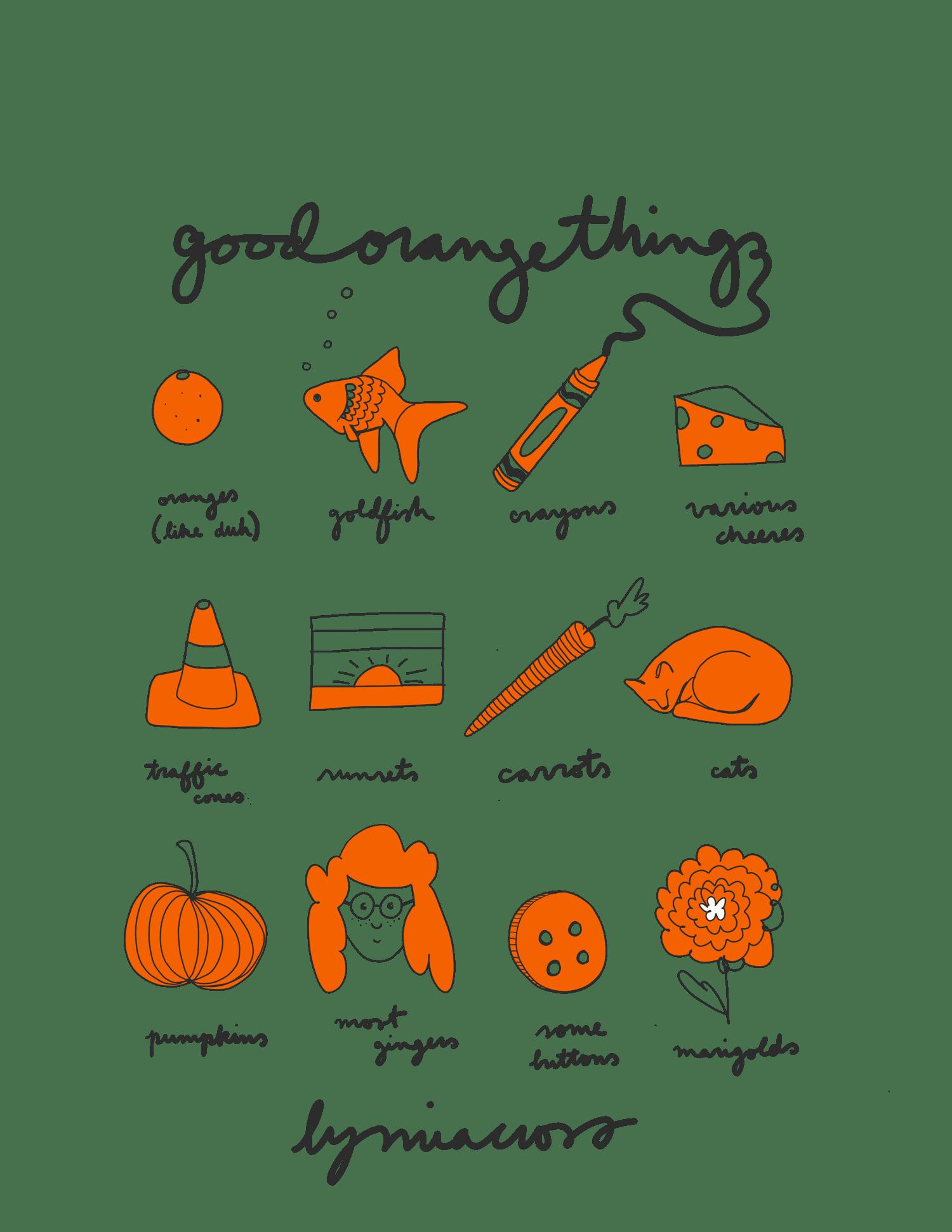 Image of 'Good Orange Things' Tote