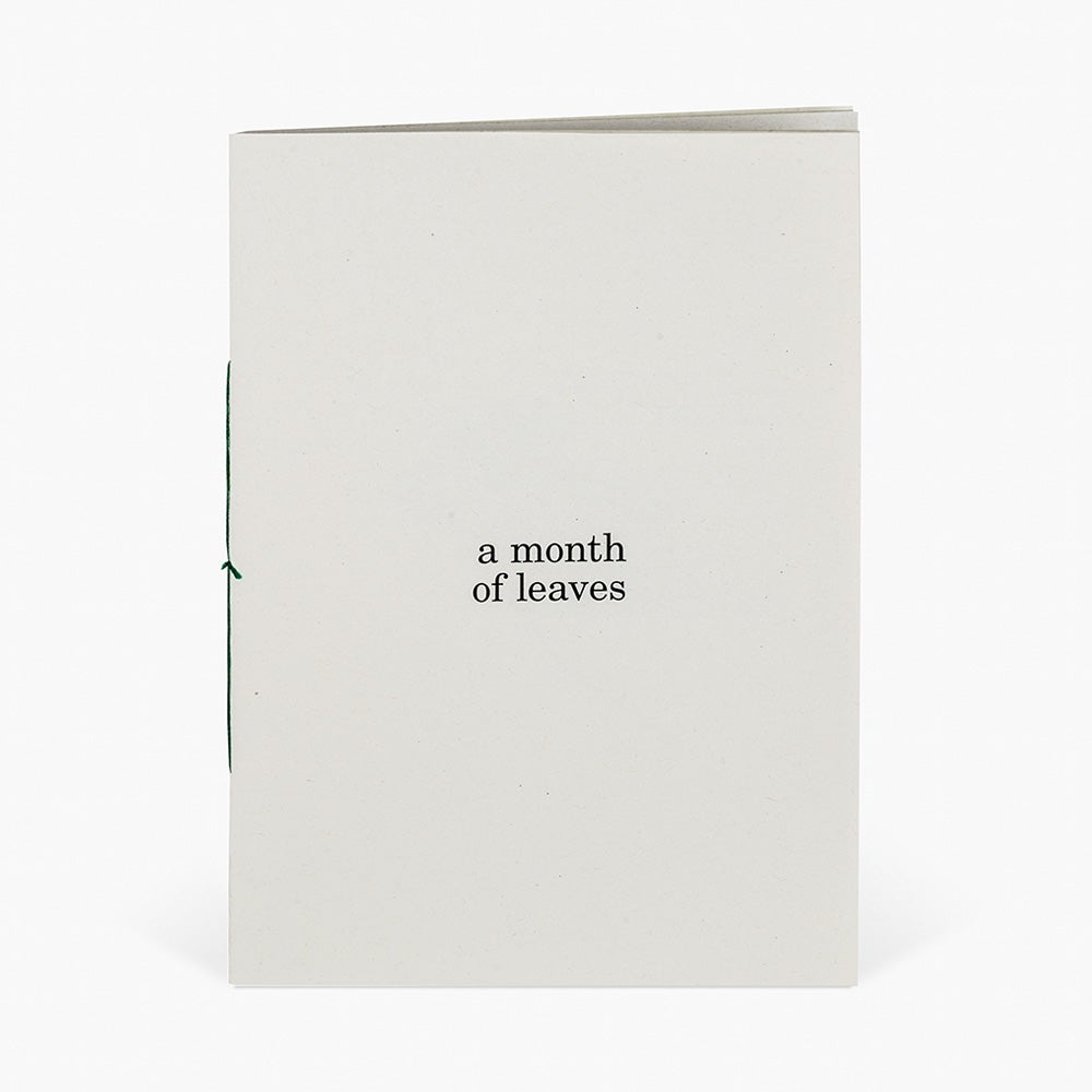 Image of A month of leaves (zine)