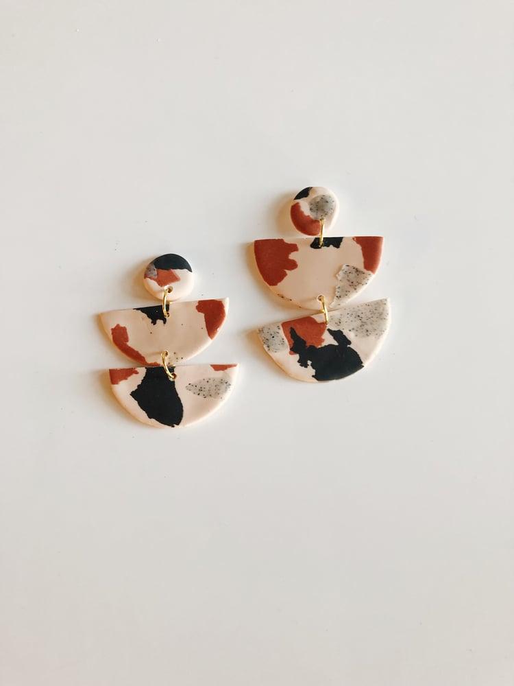Image of lux half moon earrings