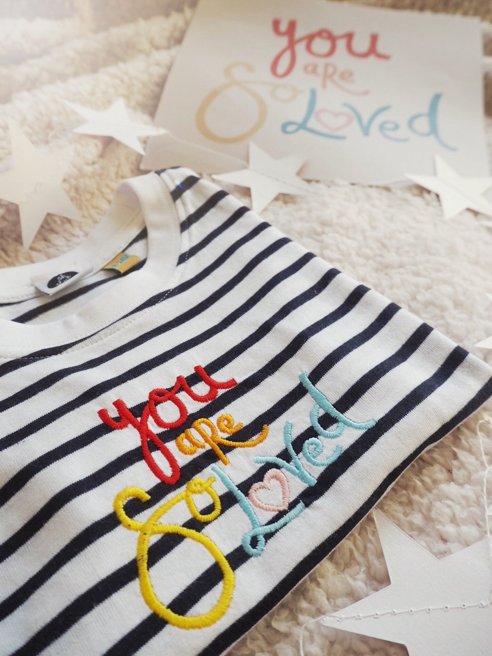 Image of You Are So Loved (Navy Stripe)