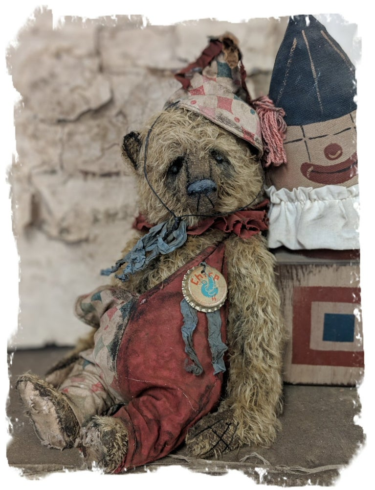 "Image of CHIRP....11"" mohair antique style vintage circus Teddy Bear by Whendi's Bears"