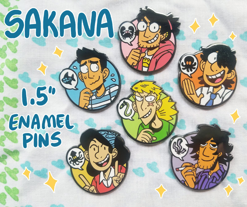 Image of SAKANA Enamel Pins
