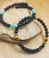 Black Onyx Bracelet Duo