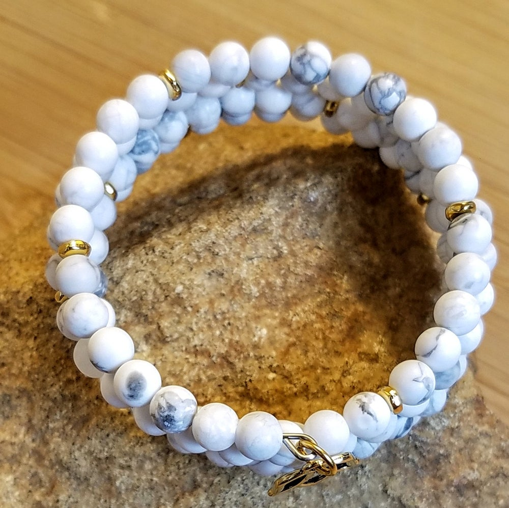 Image of Frosted White Howlite Bracelet