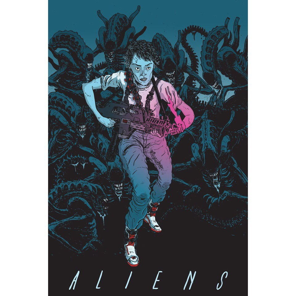 Image of ALIENS print