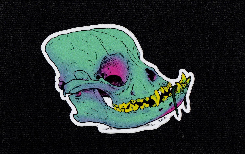 Image of DOG SKULL Sticker