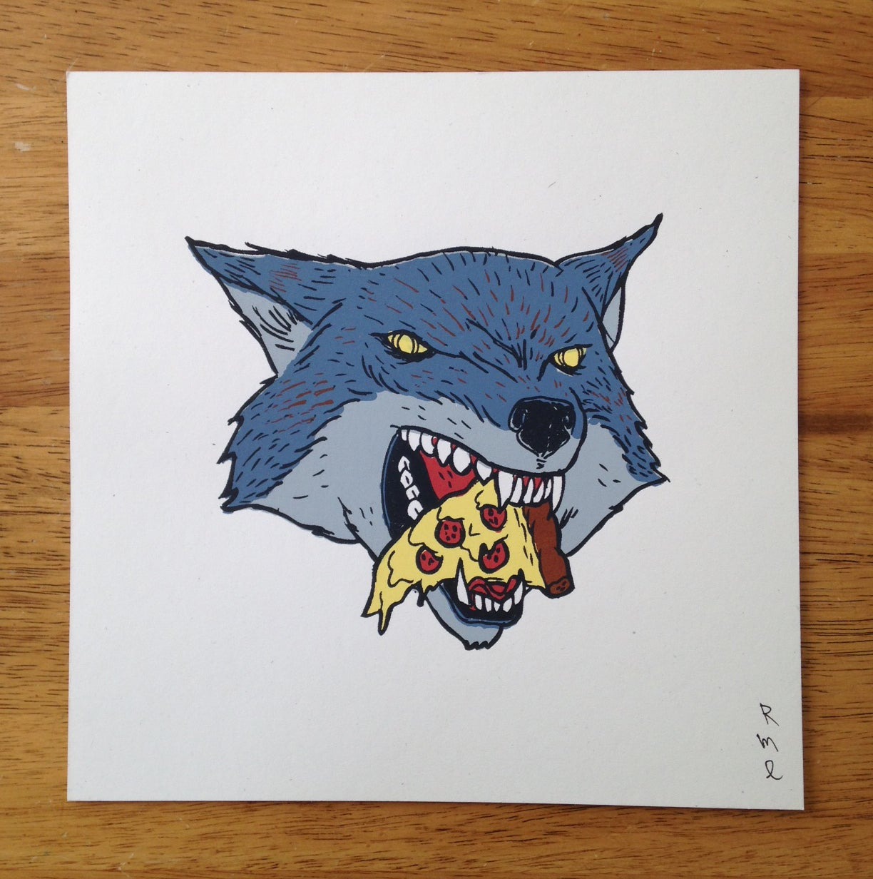 Image of PIZZA WOLF Print