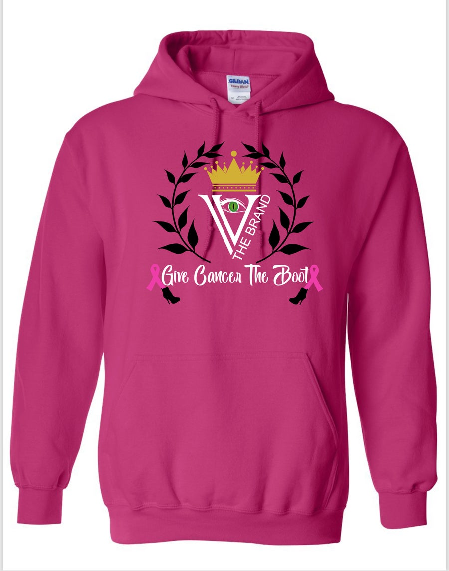 "Image of The League Hoodies ""Give Cancer The Boot ""Pink"""