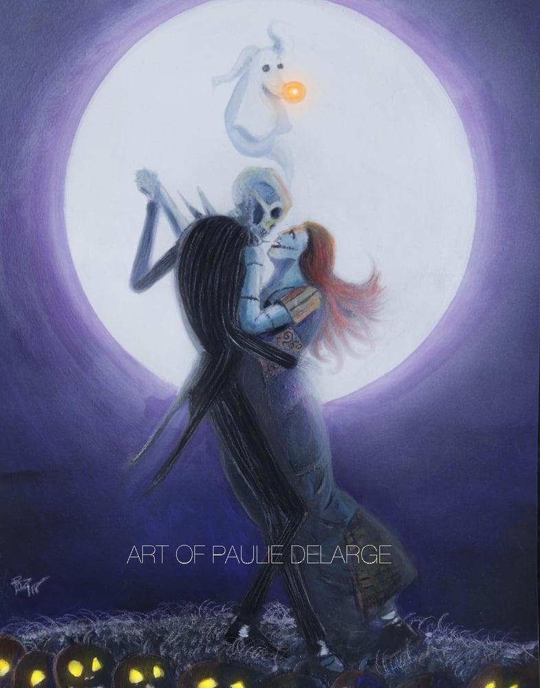 Image of Jack & Sally Moon Dance Print