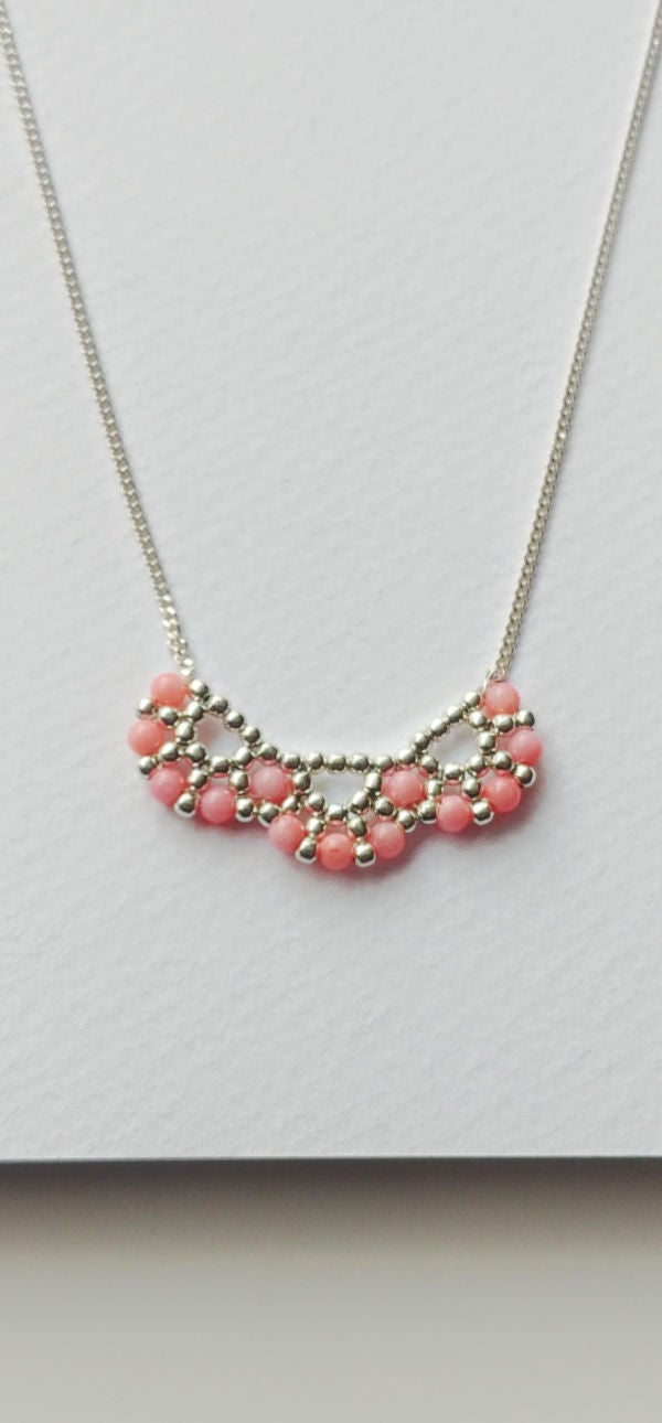 "Image of Collier Rose Corail ""Antinea"""