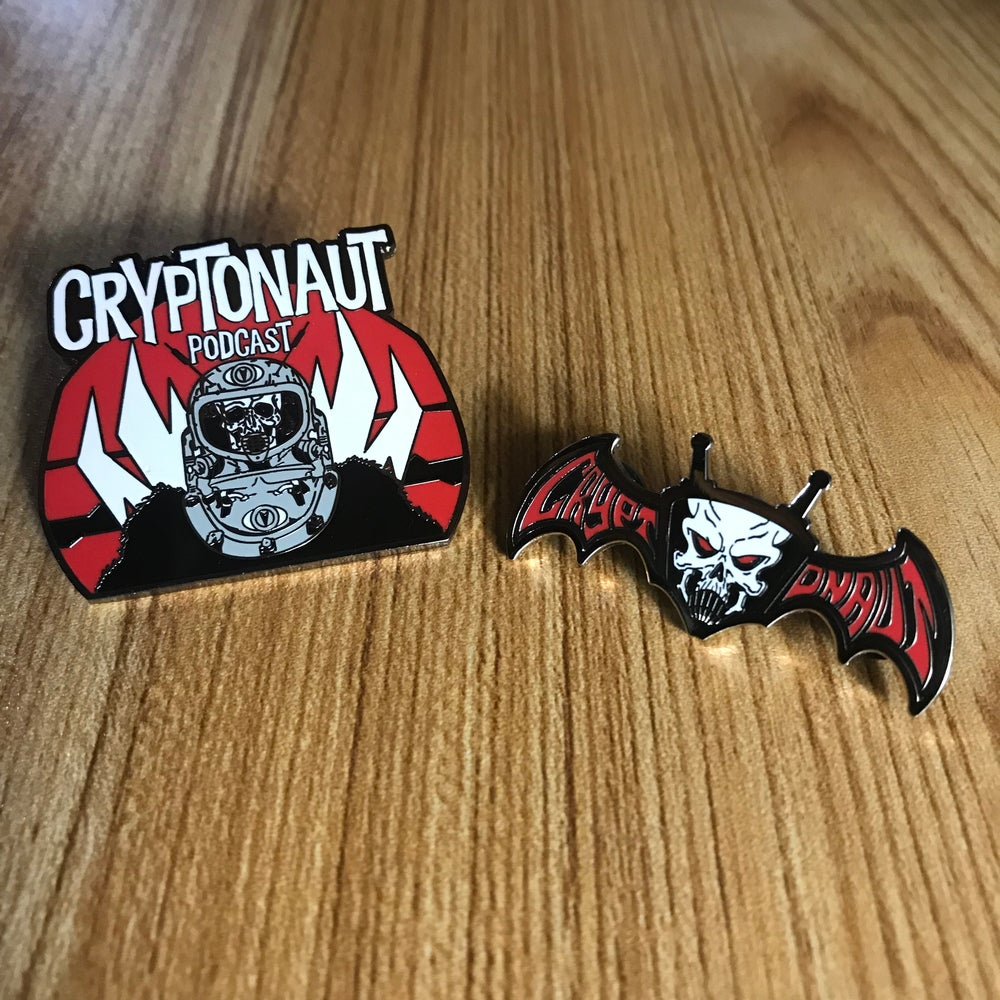 Image of Cryptonaut Podcast Enamel Pin Set