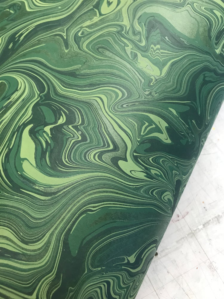 Image of 'Deep Green Malachite' on Green Base Paper