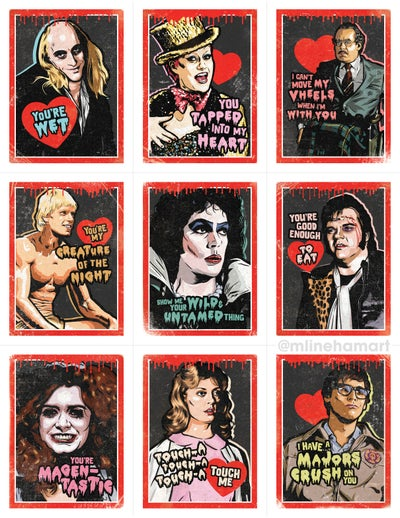 Image of READ DESCRIPTION! Rocky Horror Valentine's Day Card Pack