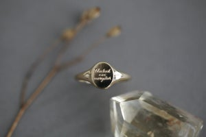 Image of *NEW* 'Fluctuat nec mergitur' small signet ring (metal options)