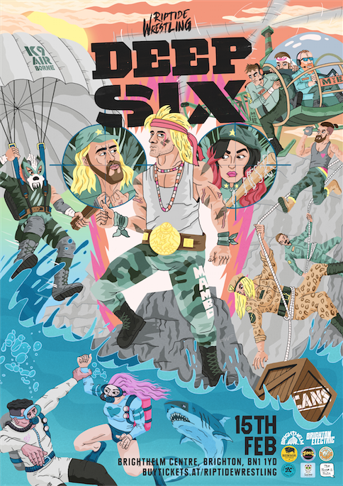 Image of Deep Six illustrate poster by Brett Jones A2 Print