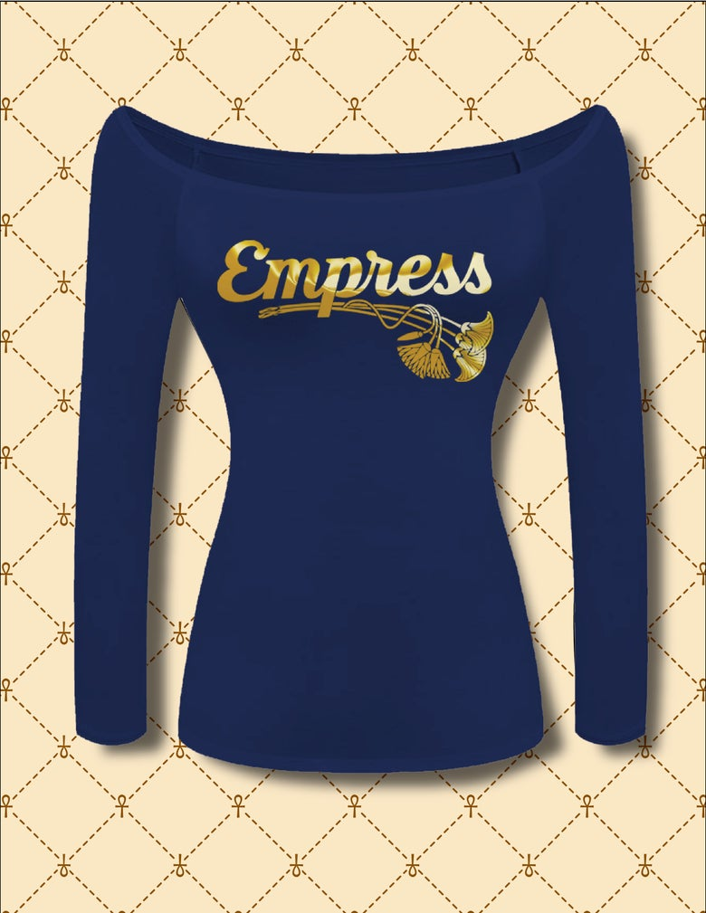Image of EMPRESS OFF SHOULDER LONG SLEEVE TOP