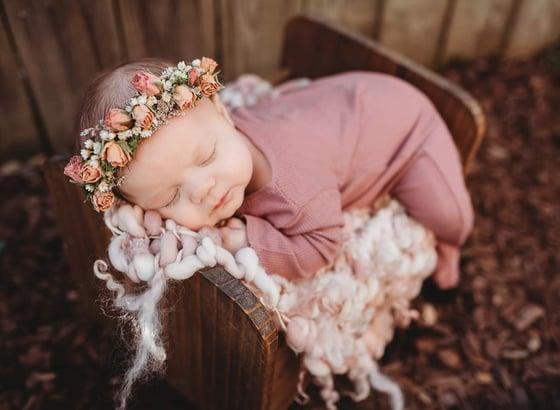 Image of Sleepy romper pinks