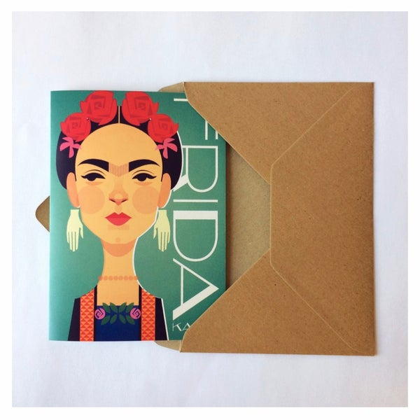 Image of Frida Kahlo greeting card