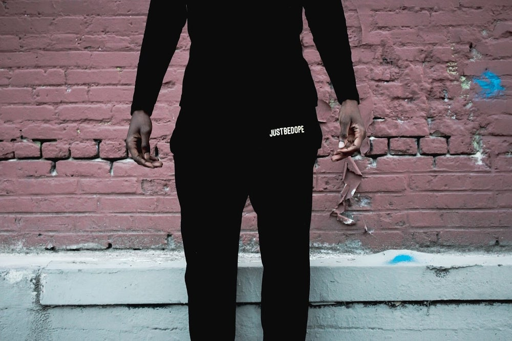 Image of Black JustBeDope joggers