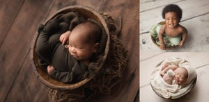 Image of Simple Round Bowl - Vintage Reproduction - Newborn Prop