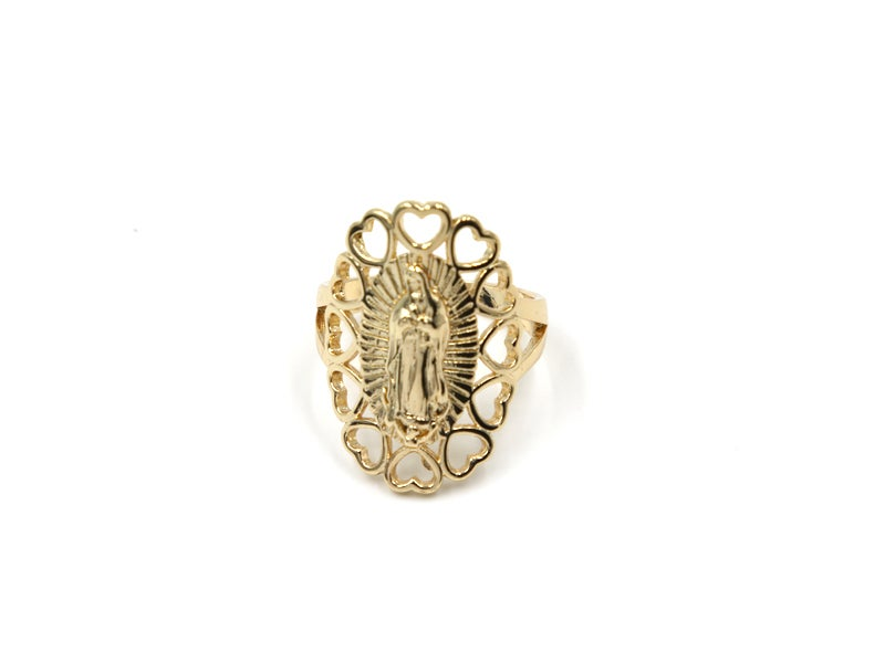Image of Virgen Heart Ring (Solid)