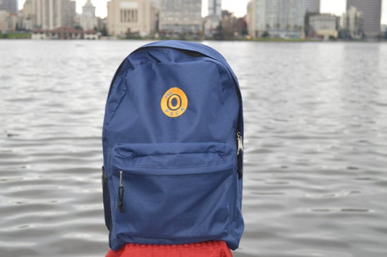 Image of The O Pack Blue And Gold Back Pack