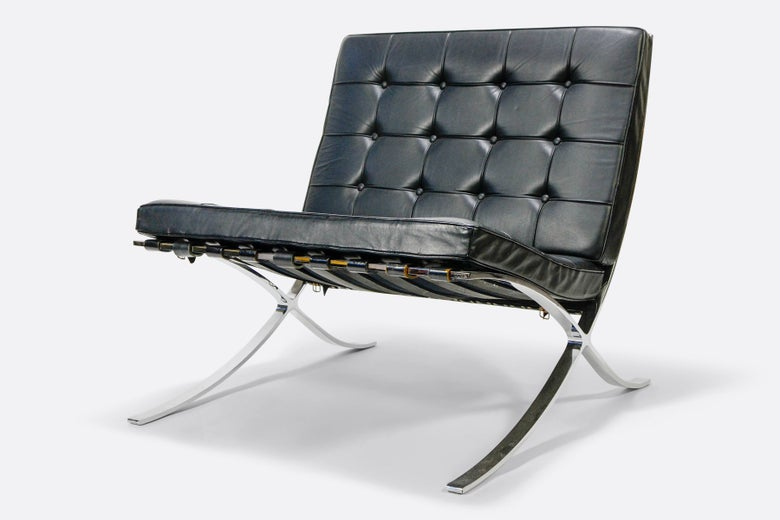 Image of Vintage Knoll Barcelona Chair Black