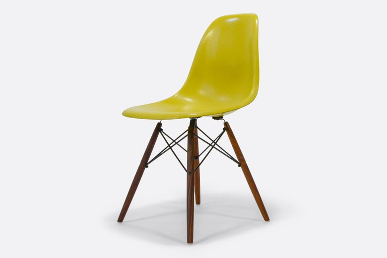 Image of Brilliant Yellow | Eames | Herman Miller | side chair
