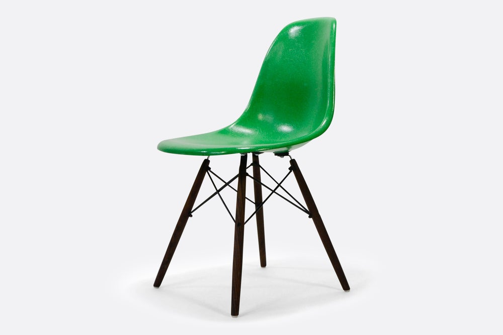 Outstanding Vintage Eames Fiberglass Chair Kelly Green Gmtry Best Dining Table And Chair Ideas Images Gmtryco