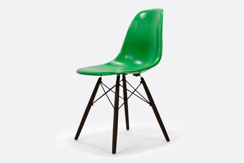 Image of Vintage Eames Fiberglass Chair Kelly Green