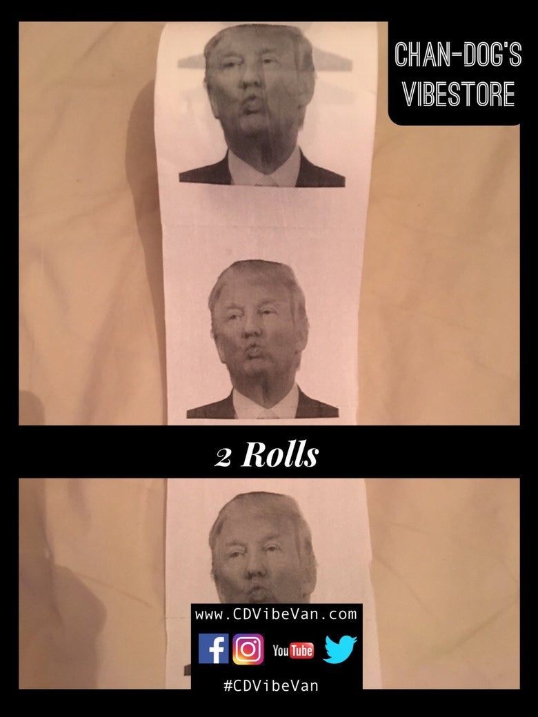 Image of Special Offer Twin Pack of Donald Trump Bog Roll (2xPouty/Kissy)