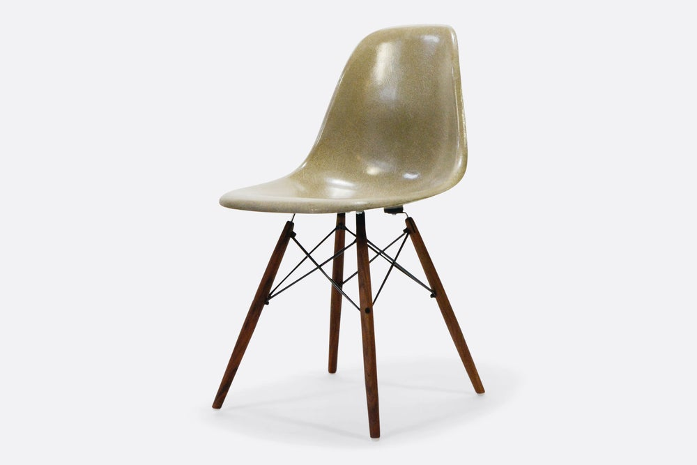 Image of Vintage Eames Raw Umber Fiberglass Side Chair
