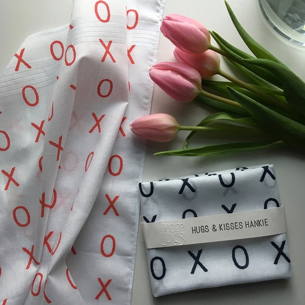 Image of Hugs + Kisses Hankie