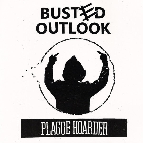 Image of Busted Outlook ‎– Plague Hoarder webstore exclusive GREY VINYL