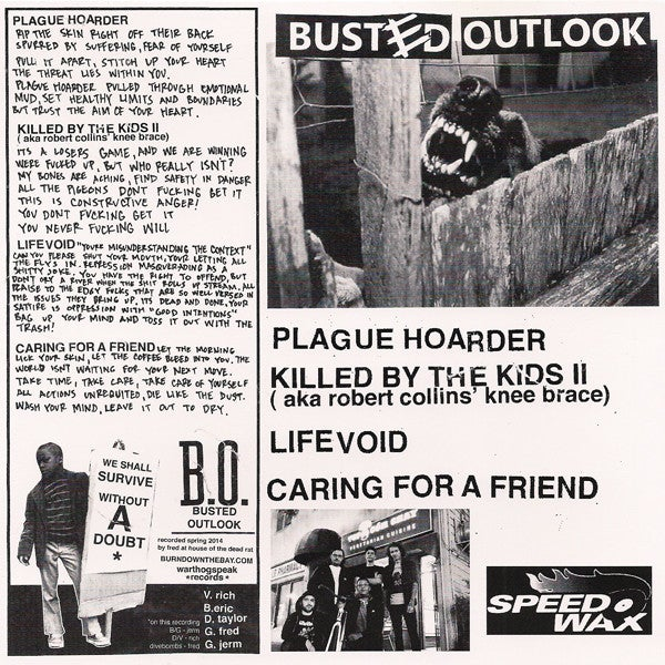 Busted Outlook – Plague Hoarder webstore exclusive GREY VINYL