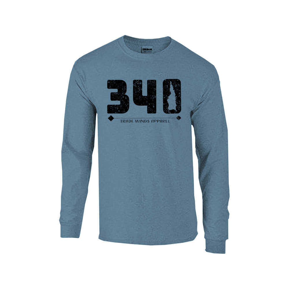 Image of Canvas 3501 Long Sleeve Triblend - Indigo