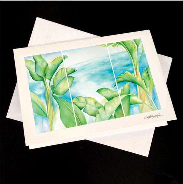 Image of Banana Palms, 5-Pack Greeting Card Set