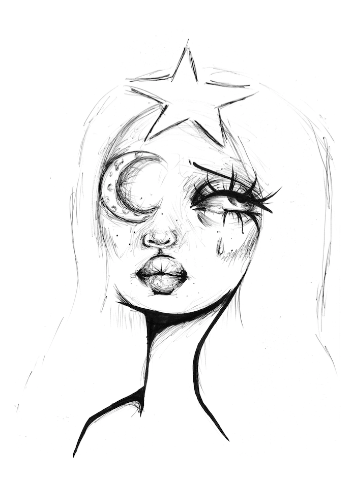 Image of Luna print