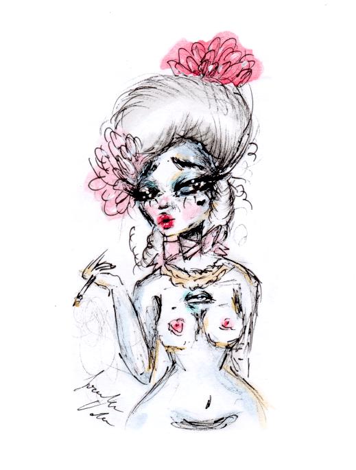 Image of Roccoco Goddess print